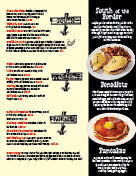 Waffles and scrambles page of menu