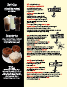 Desserts and kids page of menu